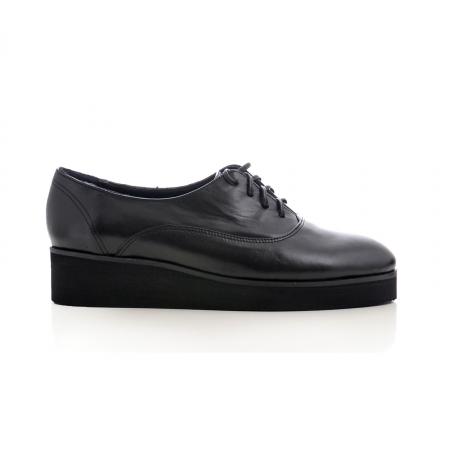 Pantofi oxford, din piele naturala neagra0
