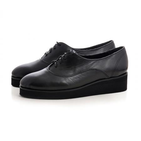 Pantofi oxford, din piele naturala neagra2