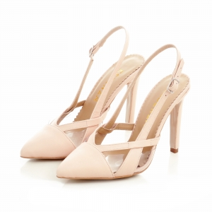Pantofi stiletto din piele bej si plastic transparent2