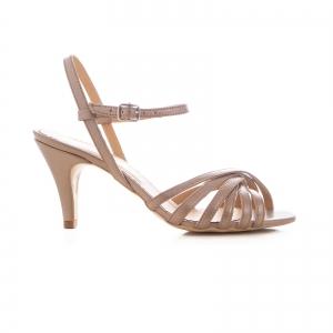 Sandale cu barete, din piele naturala bronz sidef0