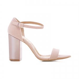 Sandale din catifea si piele lacuita0
