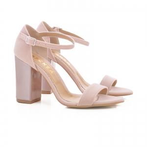 Sandale din catifea si piele lacuita1