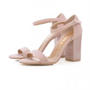 Sandale din catifea si piele lacuita2