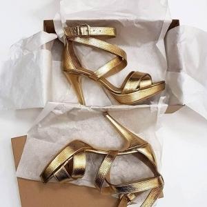 Sandale din piele aurie2