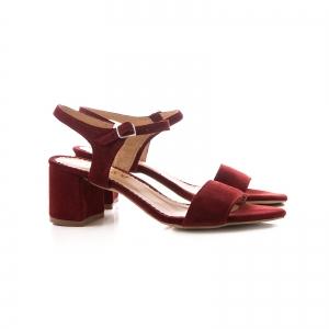 Sandale din piele intoarsa burgundy1