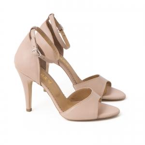 Sandale din piele naturala nude roze, cu toc stiletto1