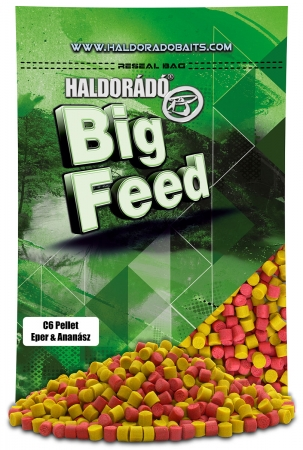 Big Feed - C6 Pellet - Capsuna & Ananas 0.9kg, 6 mm