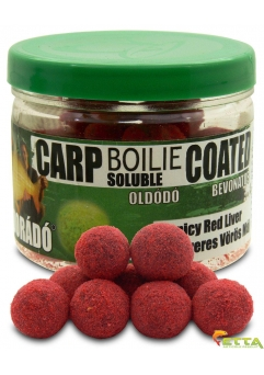 Carp Boilie Soluble Coated Spicy Red Liver 70g/18mm