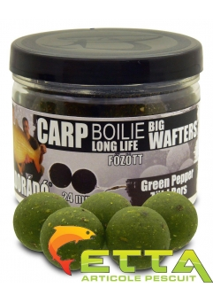 Carp Boilie Big Wafters Green Pepper 70g/24mm