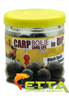 Carp Boilie In Dip Black Squid 100g/16-20mm