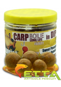 Carp Boilie In Dip Sweet Pineapple 100g/16-20mm