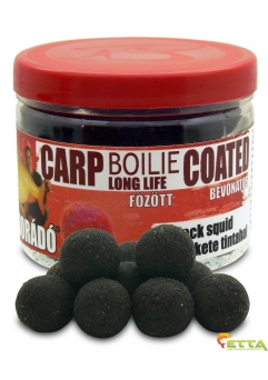 Carp Boilie Long Life Coated Black Squid 70g/18mm