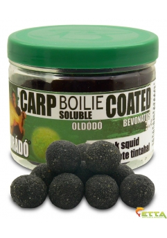 Carp Boilie Soluble Coated Black Squid 70g/18mm