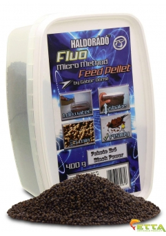 Fluo Micro Method Feed Pellet Black Power 400g