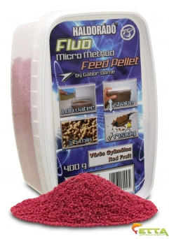Fluo Micro Method Feed Pellet Red Fruit 400g