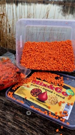 Pelete MIX&GO Pellet Box 3 in 1 - Ciocolata Portocale (600g pelete + 600ml aroma + 600g seminte)