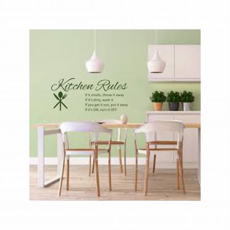 Sticker Kitchen Rules SP110