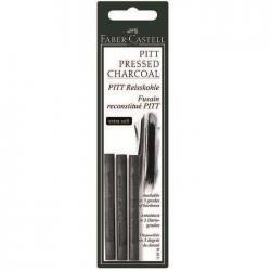 Carbune Presat Pitt Monochrome 3 buc extra-soft Faber-Castell