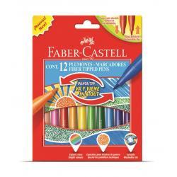 Set 12 culori Carioci Cu Varf Retractabil Faber-Castell