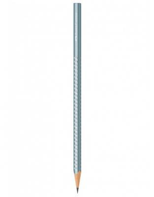 Creion Grafit B Sparkle Albastru Metalizat Faber-Castell