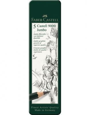 SET 5 BUC GRAFIT CASTELL 9000 JUMBO Faber-Castell