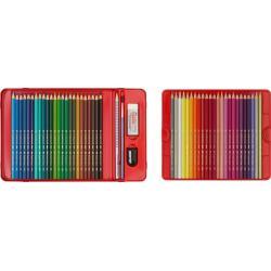 Creioane Colorate Acuarela 48 Culori si 4 Accesorii Cutie Metal Faber-Castell