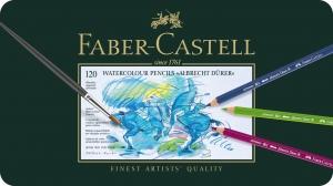 Creioane Colorate Acuarela A.Durer 120 culori, cutie metal Faber-Castell