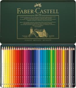 Creioane Colorate Acuarela A.Durer 36 culori, cutie metal Faber-Castell