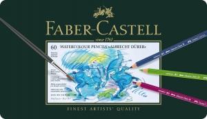 Creioane Colorate Acuarela A.Durer 60 culori, cutie metal Faber-Castell