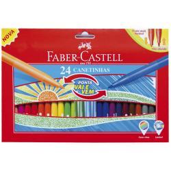 Set 24 culori Carioci Cu Varf Retractabil Faber-Castell