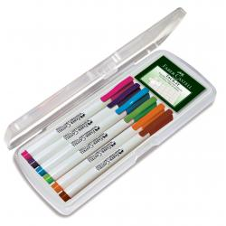Set 6 culori pastel Marker Whiteboard Slim 1560 Faber-Castell