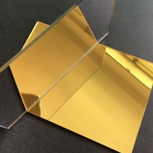 Plexiglas Oglinda Auriu