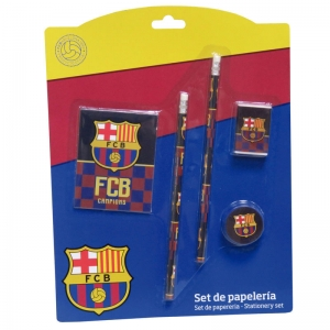 Set papetarie FC Barcelona, 5 piese