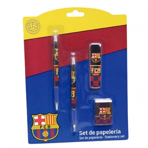Set papetarie FC Barcelona, 4 piese