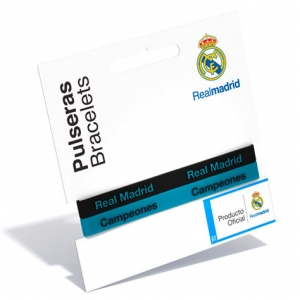 Set 2 Bratari Real Madrid embosat, albastra si neagra, adult