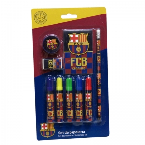 Set papetarie FC Barcelona, 9 piese