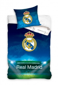 Lenjerie pat Real Madrid stadion, 2 piese, 140x200cm