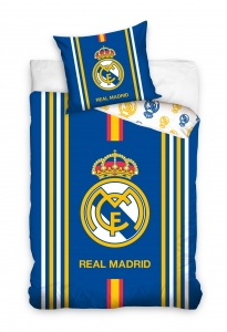 Lenjerie pat Real Madrid, 2 piese, 160x200cm, bumbac