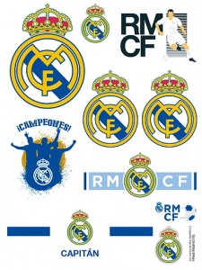 Sticker Real Madrid 9 piese, 12x15 cm