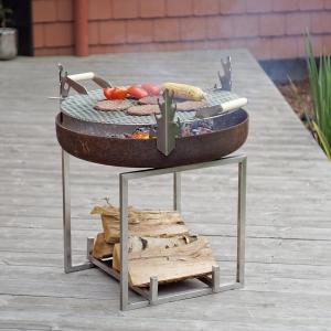 Set Fire Pit Nagliai + Grătar Inox0