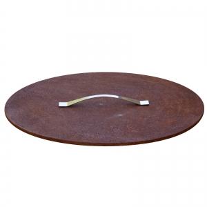 Capac pentru fire pit cu aspect ruginit