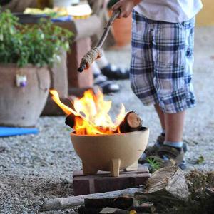 Mini bol ceramic pentru foc, D24 cm0