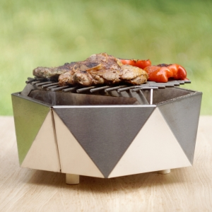 Mini Grill Top Table. D37 cm0