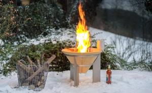 Vatră de foc ceramică Fire Memory, D55 cm3