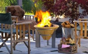 Vatră de foc ceramică Fire Memory, D55 cm4