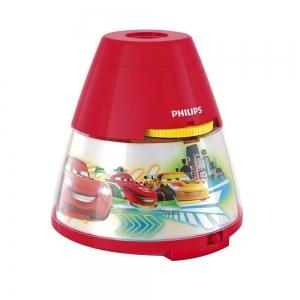 Proiector și lampă de veghe 2 în 1,Disney Cars 3xLED/0,1W si 0,3W IP20, Philips0