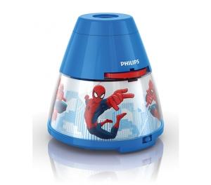Proiector și lampă de veghe 2 în 1, Spiderman 3xLED/0,1W si 0,3W, IP20, Philips0