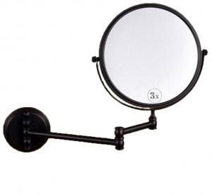 Oglinda cosmetica baie, culoare negru petrol , Foglia0