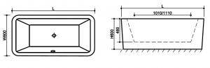 Cada baie freestanding Square2