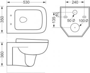 Vas wc Enigma suspendat + capac soft close inclus1